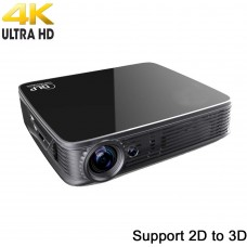 4K UHD Projector Deeirao Android5.1OS Mini DLP Home Theater Projector Blueray 3D Support 2160P 1080P Full HD USB HDMI VGA for PS4,Xbox360,Fire TV,KODI, Black