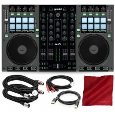 G4V 4- Channel Virtual DJ Controller with Cables and Basic Bundle