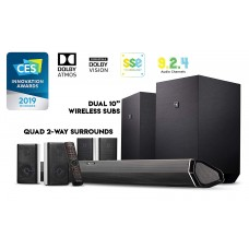 Nakamichi Shockwafe Ultra 9.2.4Ch 1000W Soundbar with Dolby Atmos and Dolby Vision with SSE