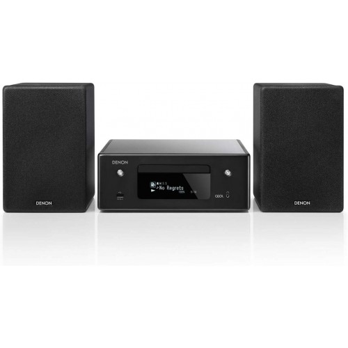 Denon CEOL-N10 Hi-Fi All-in-One Receiver & CD Player with Bookshelf Speakers (Pair) | For Smaller Rooms and Houses | Wireless Music Streaming & Amazon Alexa Compatibility | Bluetooth, Airplay 2, WiFi