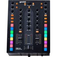 Gemini PMX-10 2 Channel Mixer All Metal Professional DJ Controller with RGB Performance Pads, MIDI and Innofader Ready Crossfader