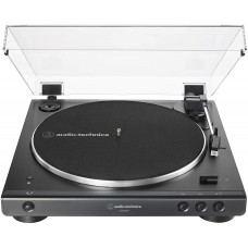 Audio-Technica AT-LP60XBT-BK Fully Automatic Bluetooth Belt-Drive Stereo Turntable, Black, Hi-Fidelity, Plays 33 -1/3 and 45 RPM Vinyl Records, Dust Cover, Anti-Resonance, Die-cast Aluminum Platter