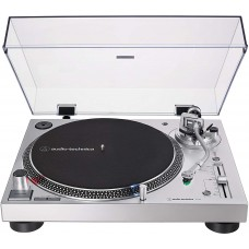 Audio-Technica AT-LP120XUSB Direct-Drive Turntable Analog & USB Silver Hi-Fidelity Plays 33 -1by3 45 and 78 RPM Records Convert Vinyl to Digital Anti-Skate Control Variable Pitch Control