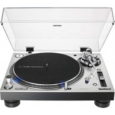 Audio-Technica AT-LP140XP-SV Direct-Drive Professional DJ Turntable, Silver