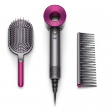 Dyson Supersonic Hair Dryer Special Edition Complimentary Gift Set Designed Paddle Iron Fuchsia w Brush Comb
