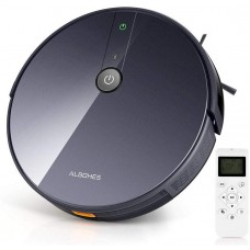 ALBOHES Robot Vacuum and Mop, 1800Pa Ultra Strong Suction Robotic Vacuum Cleaner with Self-Charging, 2 in 1 Vacuuming and Mopping Robot, Super Quite, Ideal for Pet Hair/Hard Floors/Thin Carpets