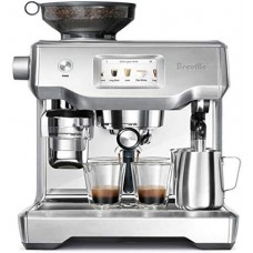 Breville 1 Oracle Touch Dual Boiler Touchscreen Automatic PID Espresso Machine-BES990BSS, 2.1, White