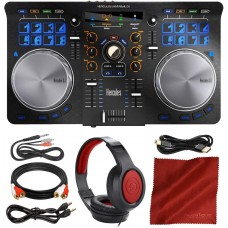 Hercules Universal DJ Bluetooth Controller + Headphones + Premium Accessory Bundle