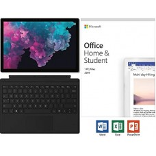 Newest Microsoft Surface Pro 6 12.3 2736x1824 10-Point Touch Display Tablet PC w Type Cover Black & Office 2019 Intel Quad Core i5-8250U Upto 3.4GHz 8GB RAM 128GB SSD Windows 10 Platinum
