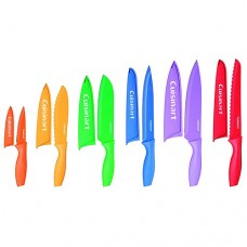 Cuisinart C55-01-12PCKS Advantage Color Collection 12-Piece Knife Set Multicolor - 2 pcs - 3.5 inch Paring Knife and 8 Chef Knife missing