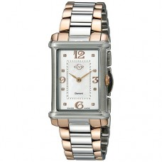 GV2 by Gevril Women Principessa Analog Display Quartz Two Tone Watch for Ladies 8402