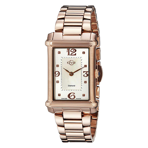 GV2 by Gevril Women Principessa Analog Display Quartz Two Tone Watch for Ladies 8401
