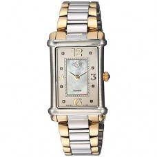 GV2 by Gevril Women Principessa Analog Display Quartz Two Tone Watch for Ladies 8400