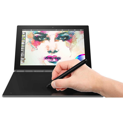 Lenovo Yoga Book 10.1Inch FHD Touch IPS 2-in-1 Convertible Tablet PC Intel Atom X5-Z8550 1.44GHz 4GB RAM 64GB SSD Bluetooth HD Graphics Windows 10 Home- Carbon Black