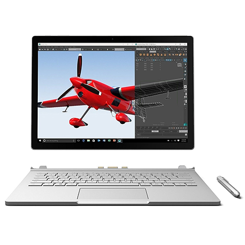 Microsoft Surface Book 512 GB, 16 GB RAM, Intel Core i7, NVIDIA GeForce GTX Graphics- Gray
