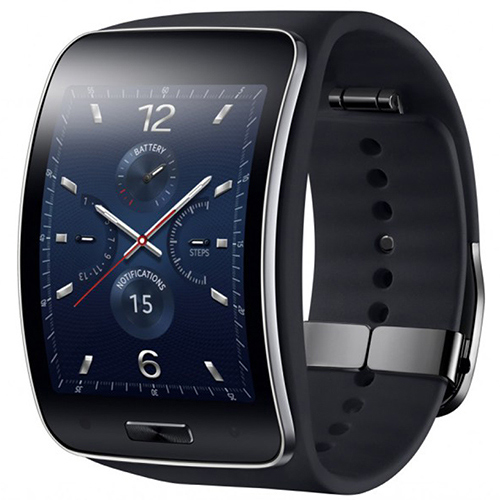 Samsung Galaxy Gear S R750W Smart Watch With Curved Super Amoled Display Black