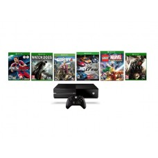 Xbox One 1TB Gaming Console with 6 Games (Ryse: Son of Rome, Watch Dogs, Farcry 4, The Crew, Lego Marvel Super Heroes, Pro Evolution Soccer)