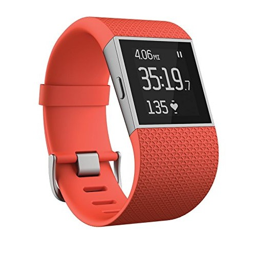 Fitbit Surge Ultimate Fitness Super Watch Large Tangerine