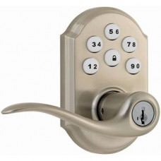 Kwikset 99110-008 SmartCode Electronic Lock with Tustin Lever Featuring SmartKey Satin Nickel