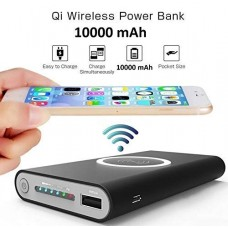 Qi Wireless Power Bank 8000mAH Portable Charger Dull Polish with USB Type C Port
