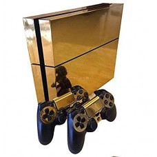 Gold Glossy Decal Skin Sticker for Playstation 4 PS4 Console Controllers