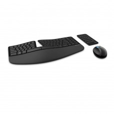 Microsoft Sculpt Ergonomic Wireless Desktop Keyboard and Mouse - L5V-00001