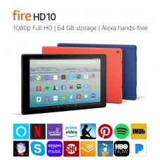 """Amazon Kindle Fire HD 10 Tablet with Alexa Hands-Free, 10.1"""" 1080p Full HD Display, 64 GB"""