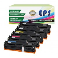 EPS Compatible Toner Cartridges Replacement for Canon 131 for Canon LBP7110Cw MF8280Cw ( 5 pc Cartridges ) 2Black / 1 Cyan / 1 Magenta / 1 Yellow