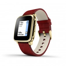Pebble Time Steel Smartwatch for Apple Android Devices - Gold