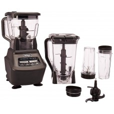Ninja Mega Kitchen System BL770 Blender Food Processor with 1500W Auto-iQ Base 72oz Pitcher 64oz Processor Bowl 4 16oz Cup for Smoothies Dough  More
