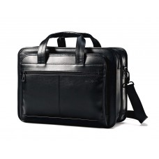 Samsonite Leather Expandable Briefcase, Black (Article No. 43118-1041)