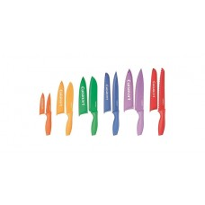 "Cuisinart C55-01-12PCKS Advantage Color Collection 12-Piece Knife Set, Multicolor - (2 pcs - 3.5"" Paring Knife and 8"" Chef Knife missing)"