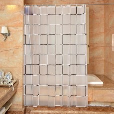 The bathroom shower curtain checkered - waterproof