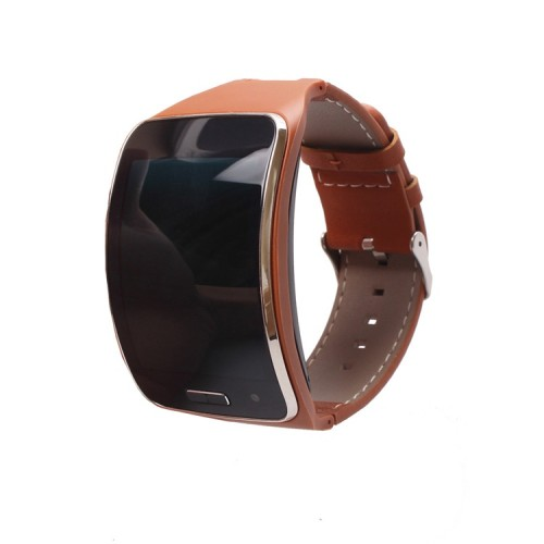 Replacement Belt for Samsung Galaxy Gear S R750 Smart Watch With Curved Super Amoled Display Brown Leather
