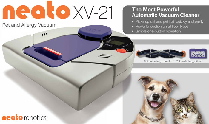 Neato XV-21 Pet & Allergy Automatic Floor Vacuum Cleaner Robot